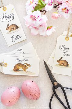 Free Printable Easter Gift Tags: Bunnies & Crosses - New Ideas Easter Printables, Christmas Printables, Free Printables, Printable Tags, Easter Gift, Easter Crafts, Easter Ideas, Easter Decor, Easter Centerpiece