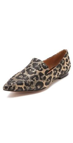 Woven leopard-print loafers from Phillip Lim, designed with a sleek pointed toe for a modern finish. Leopard Print Loafers, Fancy Shoes, 3.1 Phillip Lim, Loafer Flats, Heels, Leather, Sick, Infinity, Women