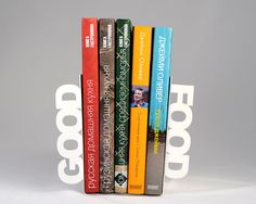 Modern  bookends  Good food  for your kitchen by DesignAtelierArticle, €34.00