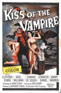 Kiss Of The Vampire Movie poster Metal Sign Wall Art 8in x 12in