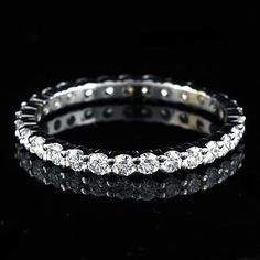2ct Diamond Wedding Band Eternity Women S Ring Graduated Diamonds Shared G Gold