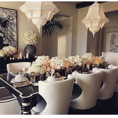 Dining Glam  #elegant #elegance #diningroom #dining #homedecor #interiordesign #interior #luxury #house #luxuryhome #furniture #anastasiabeverlyhills
