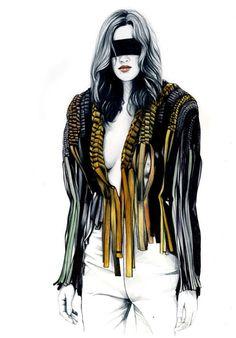 Caroline Andrieu, fashion illustration