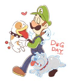 "nowitsevenhotter: "" Weegee the dog person. Super Mario Kunst, Super Mario Art, Metroid, Luigi Mansion, Game Character, Character Design, Mario Und Luigi, Nintendo Tattoo, Geeks"