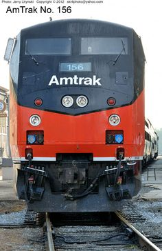 A front-end view of AmTrak Engine No. 156