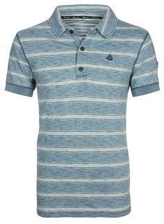 T-Shirt    Das angesagte Streifendessin bestimmt den stylischen Look des Polo-Shirts aus reiner Baumwolle. Die schöne Slubyarn-Qualität macht die Casual-Optik des Shirts noch interessanter.    Ausschnitt: Polokragen  Details: Ohne  Gesamtlänge/Rückenlänge Größe S: 70cm  Größenflag: fällt normal aus  Kragen: Polokragen  Material: 100% Baumwolle  Material Ärmeloberstoff: 100 % Baumwolle  Oberteil...