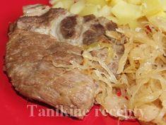 Bravčové na kyslej kapuste Pork, Meat, Casserole, Kale Stir Fry, Pork Chops