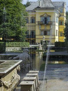 Gardens of Hellbrunn, Austria, historic