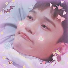 Chen is like a cute little baby 👶 Kyungsoo, Chanyeol, Exo For Life, Xiuchen, Kim Jongdae, Exo Korean, Kid Memes, Kpop Exo, Exo Members