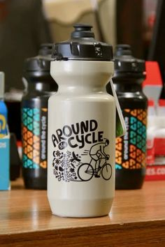 ATC Eric Junker Mural Purist Water Bottle Sand– Around the Cycle Bike Water Bottle, Water Bottles, Atc, Pure Products, Workout, Clothing, Design, Can, Outfits