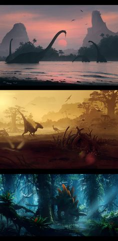 Nature of the Jurassic Period, Illustration © Николай Разуев ... a long time ago