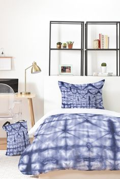 Buy Bed In A Bag with Tie Dye 2 Navy designed by Amy Sia. One of many amazing home décor accessories items available at Deny Designs. Navy Bedding, Textile Prints, Textiles, Bed In A Bag, Buy Bed, Shibori, Home Decor Accessories, Comforters, Home Goods