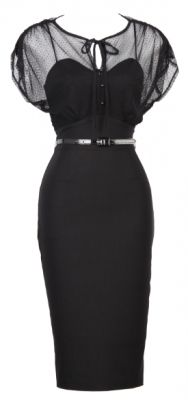 Twilight 1940s vintage style cocktail dress in black. That's my kind of dress :) #LBD