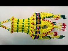 मेकरम का आकाश कंदील झूमर / Macrame Jhumar Aakash Kandil - YouTube