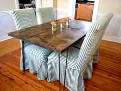The Lee  Pine Wood Dining Room Table With Hairpin by TheMooseDuck, $350.00