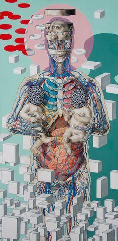 Strangely scientific paintings by artist Michael Reedy. More images below. Michael Reedy's Website
