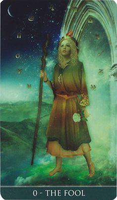 The Fool - Thelema Tarot - If you love Tarot, visit me at www.WhiteRabbitTarot.com