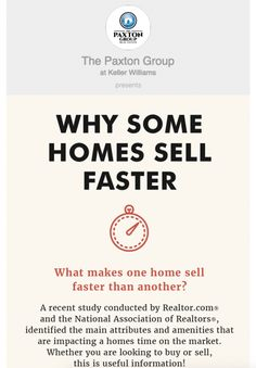 "101: That is the average number of Days on Market (DOM) in the Southern Indiana market last month. The Paxton Group average DOM is 84. We've seen some homes take much longer than 101 days to sell, but we've also seen homes sell in a week. What makes some properties so much ""hotter"" than others? #PaxtonGroup #Blog #SellingYourHome"