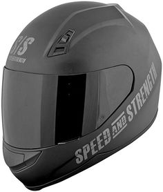 85d308a1 Speed and Strength Go For Broke Men's SS700 On-Road Racing Motorcycle Helmet  - Black
