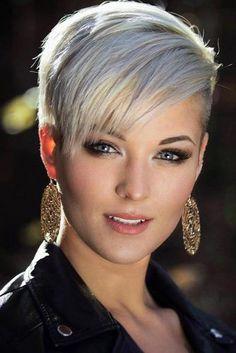 Stylish Short Hair Ideas Silver Layered Straight Pixie Cut 1 1