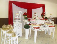 Decoração Para Casamento Vermelho e Branco, Aluguel de Provençal Para Festas e Decorações de Primeira Classe!