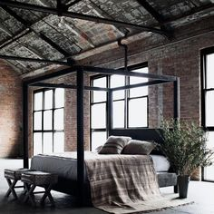Cozy Bedroom, Modern Bedroom, Bedroom Decor, Bedroom Inspo, Loft Design, House Design, Loft Interior Design, Interior Designing, Warehouse Living
