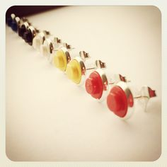 Cute lego stud earrings