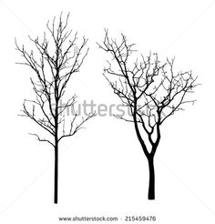 stock-vector-vector-black-silhouette-of-a-bare-tree-215459476.jpg (450×470)