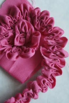 Ruched Fabric Flower Tutorial