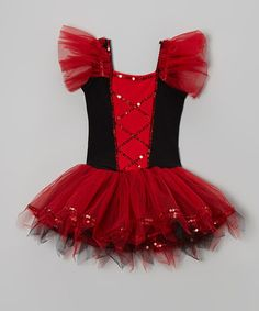 Look what I found on #zulily! Red & Black Sequin Ballet Dress - Infant, Toddler & Girls by Wenchoice #zulilyfinds