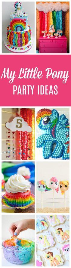 23 My Little Pony Birthday Party Ideas - Pretty My Party - Party Ideas My Little Pony Party, Cumple My Little Pony, Birthday Party Design, 5th Birthday Party Ideas, 3rd Birthday, Birthday Stuff, Halloween Birthday, Ideas Party, Birthday Cakes