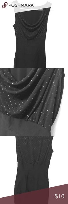 Sexy Tight Little Black Dress silver polka dots This tight little black dress makes anyone look good. This dress makes your boobs pop and booty shape just right. BCX Dresses Mini