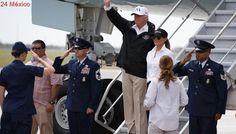 "Donald Trump llega a Texas para evaluar daños provocados por ""Harvey"""
