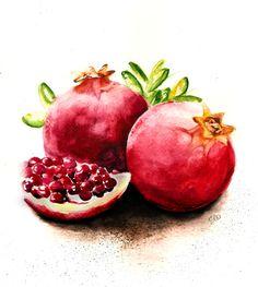 Fresh Juicy Pomegranates. One of my favorites!