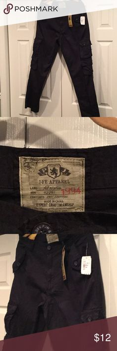 NWT I-FE Apparel Cotton Cargo Navy Pants 34 x 32 These navy cargo pants are new with tags and are perfect to wear anytime! I-FE Apparel Pants Cargo