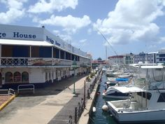 The marina in the capital, Bridgetown.