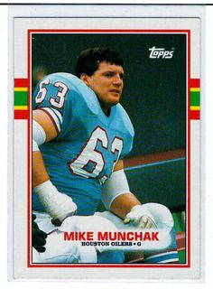 Sports Cards Football – 1988 Topps Mike Munchak  – 2 Card Lot – Free Shipping