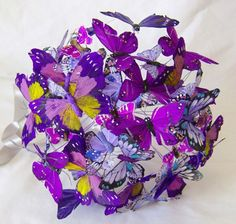 Bouquet de noiva com borboletas