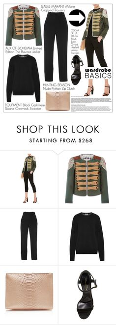 """Wardrobe Basics: Spring Jacket"" by martso ❤ liked on Polyvore featuring Alix of Bohemia, Isabel Marant, Hunting Season and Oscar de la Renta"