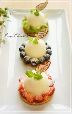 Easy Fruit Tarts with Lemon and Cheese Mousse❀