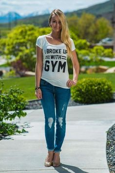 4dd4c5246c9 I Broke Up With Gym Graphic Tee