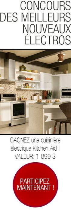 Gagnez la toute nouvelle cuisinière KitchenAid. Fin le 18 décembre.  http://rienquedugratuit.ca/concours/nouvelle-cuisiniere-kitchenaid/