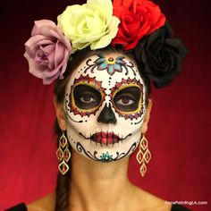 Day of the Dead Dia De Los Muertos face painter Los Angeles LA
