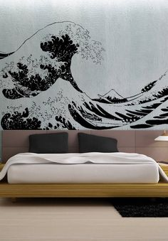 Japanese Great Wave Hokusai LARGE - uBer Decals Wall Decal Vinyl Decor Art Sticker Removable Mural Modern A869 on Etsy, $79.90