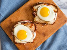 A good croque is all about nailing texture, bread-to-filling ratio, and the goo factor. This recipe, which calls for thin slices of toasted-on-all-sides bread, melted cheese, rich Mornay sauce, and Dijon mustard, is a case study in getting it right—and the fried egg on top is just the icing on the...sandwich.