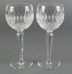 """Lot 68, 6 Waterford Crystal Colleen pattern hock glasses 7 1/2"""", est £100-150 (one of many lots of fine glass in this Auction www.denhams.com)"""