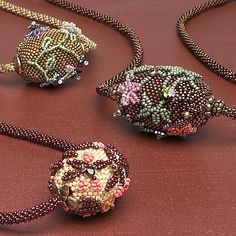 Bead intuitive: beaded bead, peyote stitch, bead embroidery, kumihimo, stringing (Download Now)