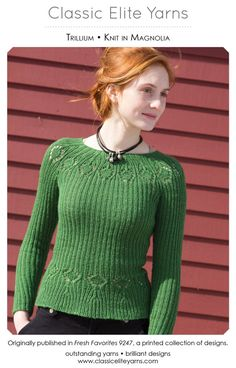 Trillium Pullover in Classic Elite Yarns Magnolia - Downloadable PDF. Discover more patterns by Classic Elite Yarns at LoveKnitting. The world's largest range of knitting supplies - we stock patterns, yarn, needles and books from all of your favourite bra