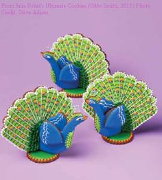 Peacock Cookies #fooddecoration, #food, #cooking, https://facebook.com/apps/application.php?id=106186096099420....too cool!!!
