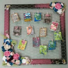 ATC trading board made with the KraaftShaak.com mixed media kit. #ksdt2015 #lizziesworkshop #iheartmixedmedia Media Kit, Atc, Mixed Media, Workshop, Paper, Board, Frame, Projects, Design